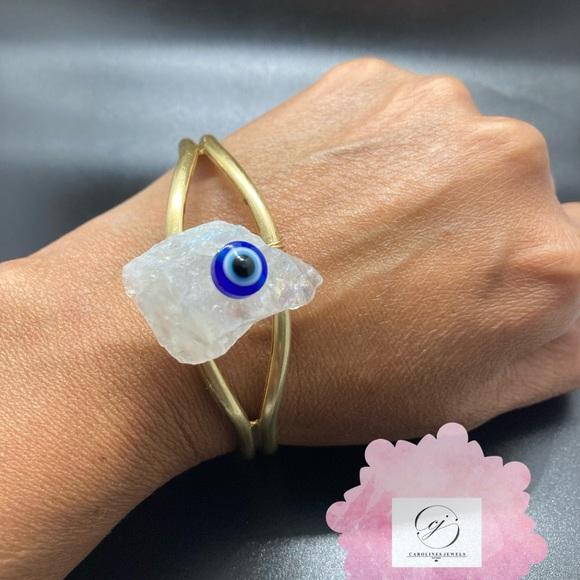 Evil Eye Crystal Keychain Angel Aura